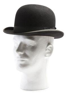 Derby: men's small, round, everyday hat worn to work