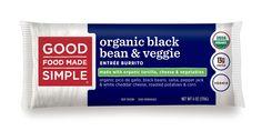 Organic Black Bean & Veggie Entrée Burritos - Good Food Made Simple