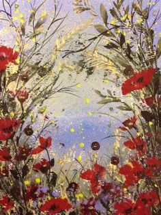 ARTFINDER: Vanilla grass and poppies by Jane Morgan - A glimpse of the sea through vanilla coloured grasses and orange red poppies. I used acrylic paint and inks with a little glitter. Will fit a standard Bright Flowers, Art Flowers, Flower Art, Cow Parsley, Grass Flower, Grasses, Tea Recipes, Red Poppies, Orange Red