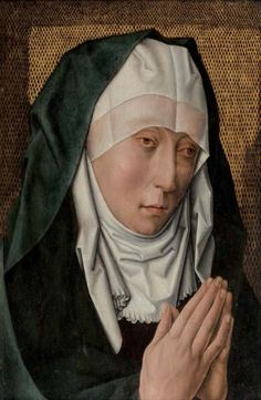 Atelier de Dirck Bouts Haarlem 1415 - 1475 Louvain VIERGE DE DOULEUR Huile sur…