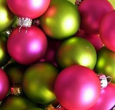 And so it has been decided...this year it will be pink and green