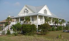Waterfront Vacation Home Plans, Coastal House Plans, Low Country House Plans, Wr