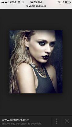 Dramatic vamp makeup