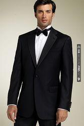 white bowtie for Matt.. black bowties for groomsmen and best man