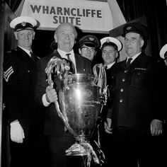 Sir Matt Busby with the European cup 1968. First English club to win it.