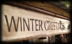 Winter Greeting Canvas Sign