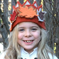 Queen of the Fall and Autumn Harvest Felt Crown. $39.95, via Etsy.