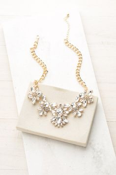 Fall Sparkle Necklace in Gold | ShopDressUp.com