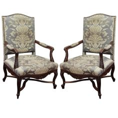 Pair of Regence Style Fauteuils | From a unique collection of antique and modern armchairs at http://www.1stdibs.com/furniture/seating/armchairs/