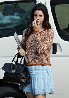Not only do I love that this is Lana Del Rey, but I love the outfit she's rocking!