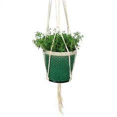 COYNES - Geo Hanging Pot, Large - Green