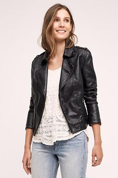 Vegan Leather Moto Jacket - anthropologie.com