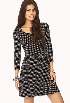 $19.80 -- Polka Dot Fit & Flare Dress | FOREVER21 - 2040496837
