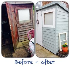 Turned an old ugly shed into a pretty one!