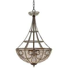 Elizabethan Collection Bronze Finish Four Light Chandelier