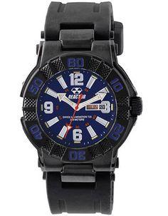 16bb9ecb92 Reactor Mens MX Tritium Watch - Black Case - Blue Dial - Rubber Strap- 200M