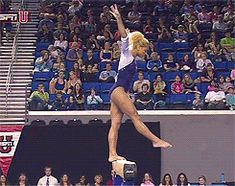 I can't stop watching this hypnotic gymnastics animated GIF. Danusia Francis (UCLA) This is awesome! Gymnastics Skills, Gymnastics Videos, Gymnastics Quotes, Rhythmic Gymnastics, Olympic Gymnastics, Olympic Games, Gymnastics Routines, Aerial Gymnastics, Gymnastics Problems
