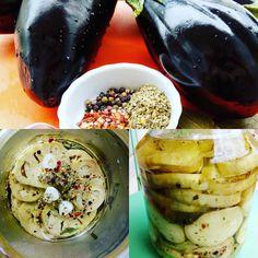 Berenjenas en escabeche/ Pickled eggplants