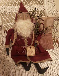 handmade primitive santas | Primitive Old Fashion Santa - Handmade