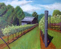 """Addison Farm Vineyard,"" oil on canvas, 16"" x 20"", 2016"