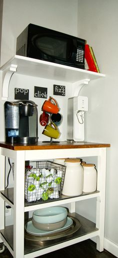 drink station with keurig and SodaStream