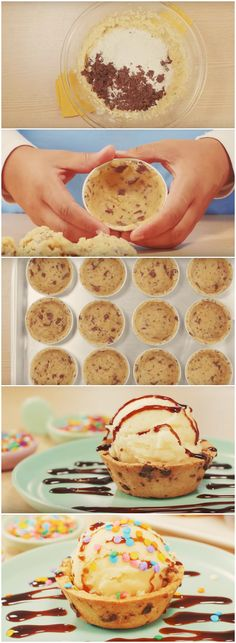 APRENDA A FAZER CASQUINHAS DE COOKIES PARA INCREMENTAR SUAS SOBREMESAS! (veja a receita passo a passo) #casquinhas #cookies #casquinhasdecookies #sobremesa