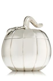 Silver Pumpkin Silver Pumpkin Mini Candle Holder - Slatkin & Co. - Bath & Body Works