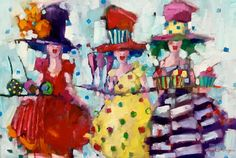 Angela Morgan,  the art and etiquette of suprise,  Oil on Canvas  24 X 36 in.