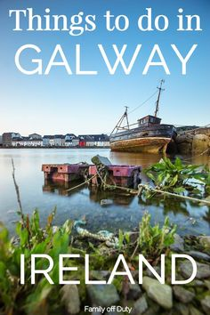 The best things to do in Galway Ireland. Check this post on what to see in galway and what to do at night. Galway is a very vibrant Irish city and a destination you should not miss during your trip to Ireland, Europe. Ireland Vacation, Ireland Travel, Scotland Travel, Travel With Kids, Family Travel, Galway Ireland, Cork Ireland, Ireland Pubs, Train Tour