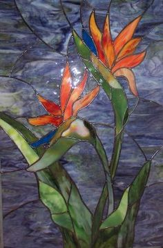 Stained glass - Bird of paradise by zelma