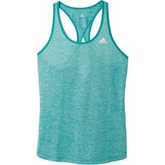 adidas Triple Threat Keyhole Tank ($25) ❤ liked on Polyvore featuring activewear, activewear tops, adidas sportswear, adidas and adidas activewear