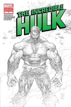 Sketch of The Hulk by Marc Silvestri