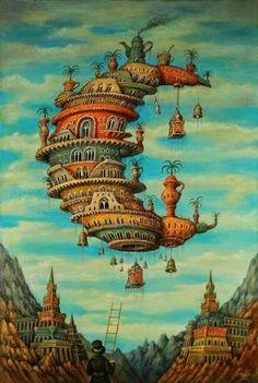 Pinzellades al món: Ciutats imaginàries de Sergey Tyukanov / Ciudades imaginarias / Imaginary Cities of Sergey Tyukanov