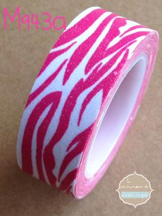 Washi Tape cebra rosa