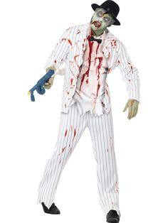 Men's Zombie Gangster Costume