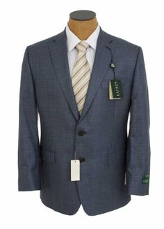 Ralph Lauren Mens Navy Blue Weave Silk Wool Sport Coat Jacket for only $119.99 You save: $230.01 (66%)