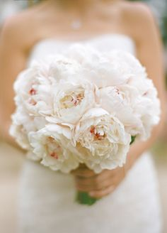Peony Bridal Bouquet. Via Inweddingdress.com #weddingbouquet