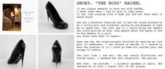 12 shoes for 12 lovers:RACHEL