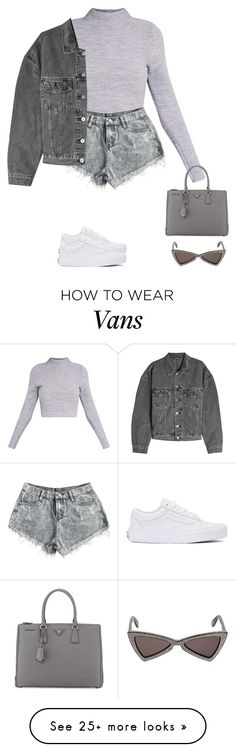 """grays"" by tiffvnyyy on Polyvore featuring Yves Saint Laurent, Vans, Yeezy by Kanye West and Prada Outfits For Teens, Trendy Outfits, Cool Outfits, Summer Outfits, Fashion Outfits, Womens Fashion, Looks Style, My Style, Korean Outfits"