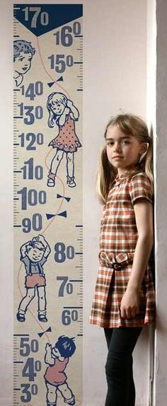 Lapin & Me — Retro Kids Height Chart Ruby Room, Naughty Kids, Colorful Bedding, Retro Kids, Height Chart, Stylish Bedroom, Vintage Room, Creative Kids, Kid Spaces