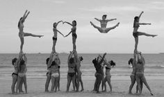 Love cheer ♥ MY CHEER TEAM DID THIS but I fractured my ankle cuz when I was flyin I landed wrong