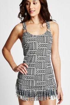 Michie Fringed Tank | GbyGuess.com