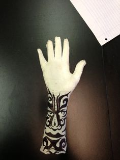 A complete mini unit focusing on the history and evolution of tattooing. Students will use plaster gauze to cast a part of their body and will then use various materials to apply a tattoo design to the cast. Plaster Sculpture, Human Sculpture, Plaster Art, Sculpture Art, Sculptures, High School Art Projects, Art School, Plaster Hands, Intro To Art