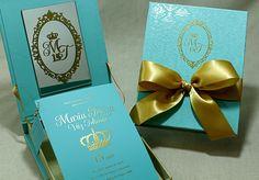 Identidade visual 15 anos: convite azul Tiffany