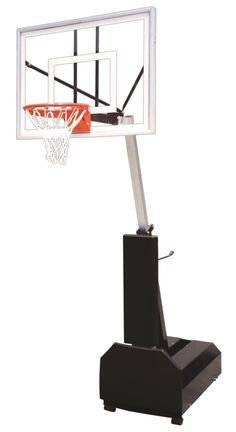 First Team Fury Turbo Adjustable Portable Basketball Hoop 54 inch Tempered Glass from NJ Swingsets