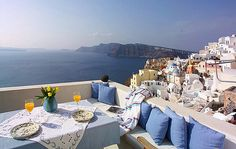 View from The Sea Captains House in Oia, Santorini, Greece - a beautiful place to turn 50!