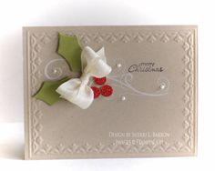 The flourish and embossing are beautiful. #Christmas #cards #paper_crafting
