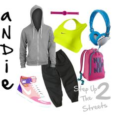"""Andie"" Inspiration from Step Up 2: The Streets. So DOPE. #polyvore #bbartolotta"