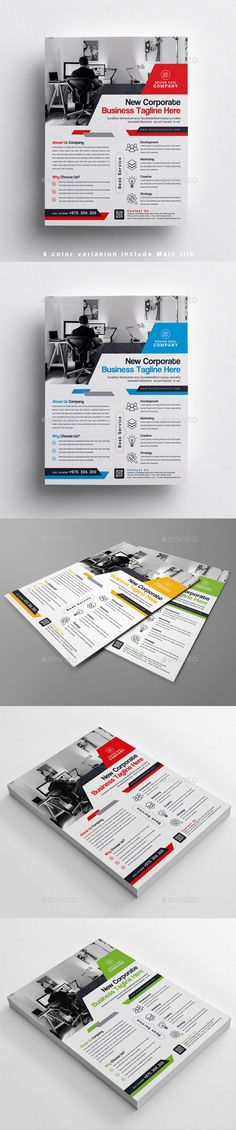 Corporate Business Flyer by designsoul14 Details Fully layered Adobe Photoshop CS5 Fully layered PSD 4 color variation include Main file print size: 8.5×11 inches