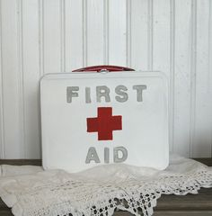 Upcycled lunchbox first aid kit .. safety first!